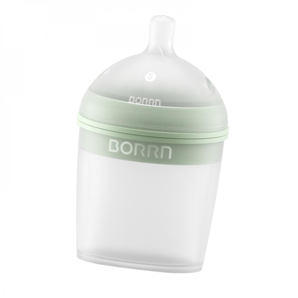 Силиконовая бутылка для кормления Borrn 150 мл Green