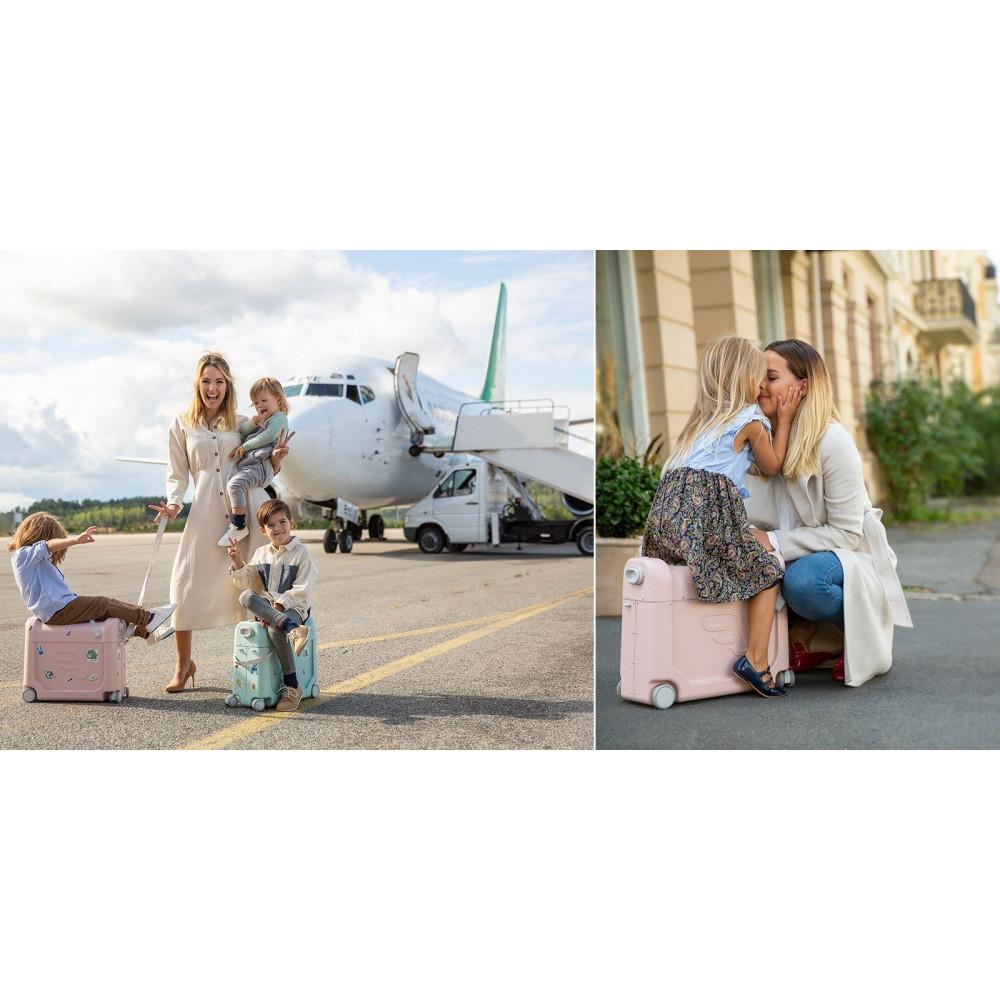 Чемодан-кроватка для путешествий JetKids by Stokke BedBox 2.0 Green Aurora 534502 Витрина
