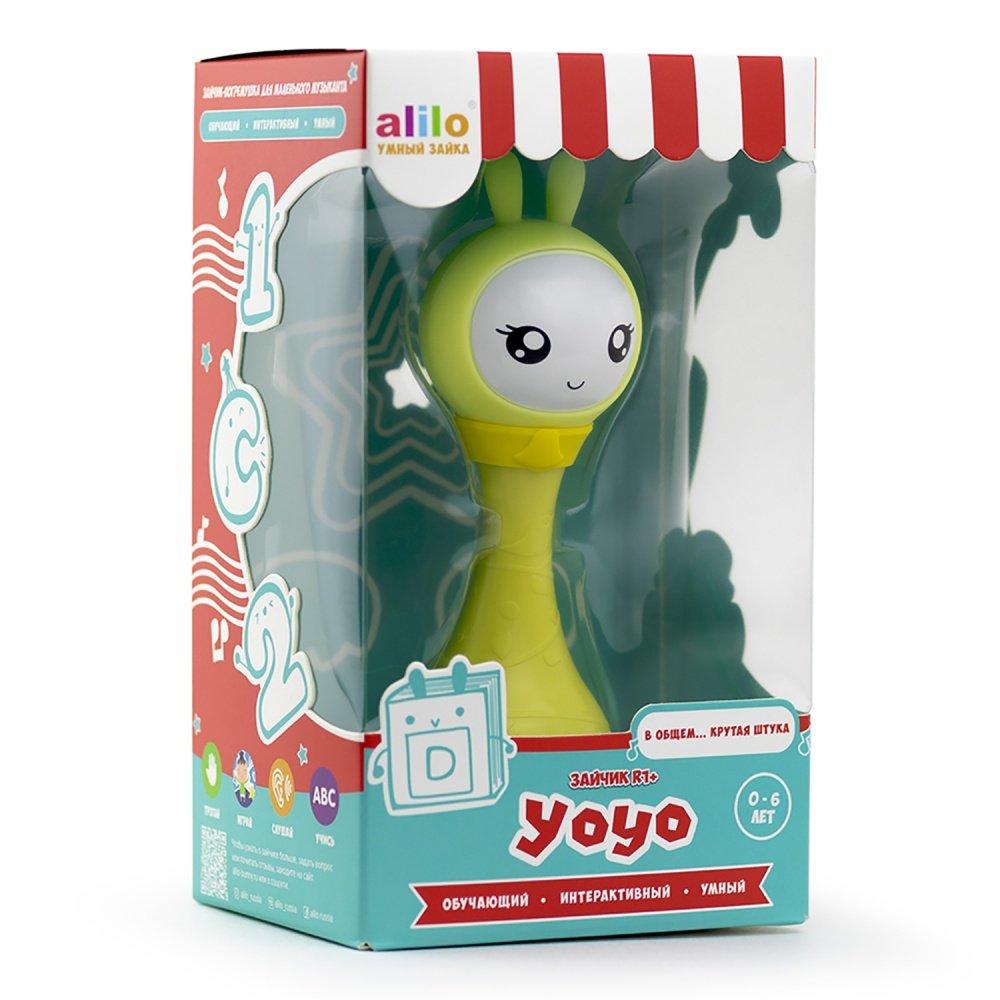 Alilo игрушка музыкальная интерактивная Умный зайка R1+ Yoyo жёлтый