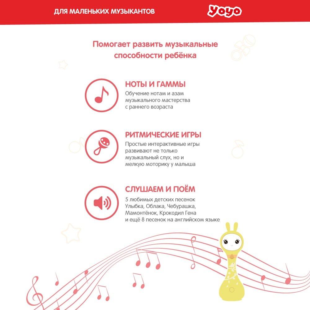 Alilo игрушка музыкальная интерактивная Умный зайка R1+ Yoyo розовый