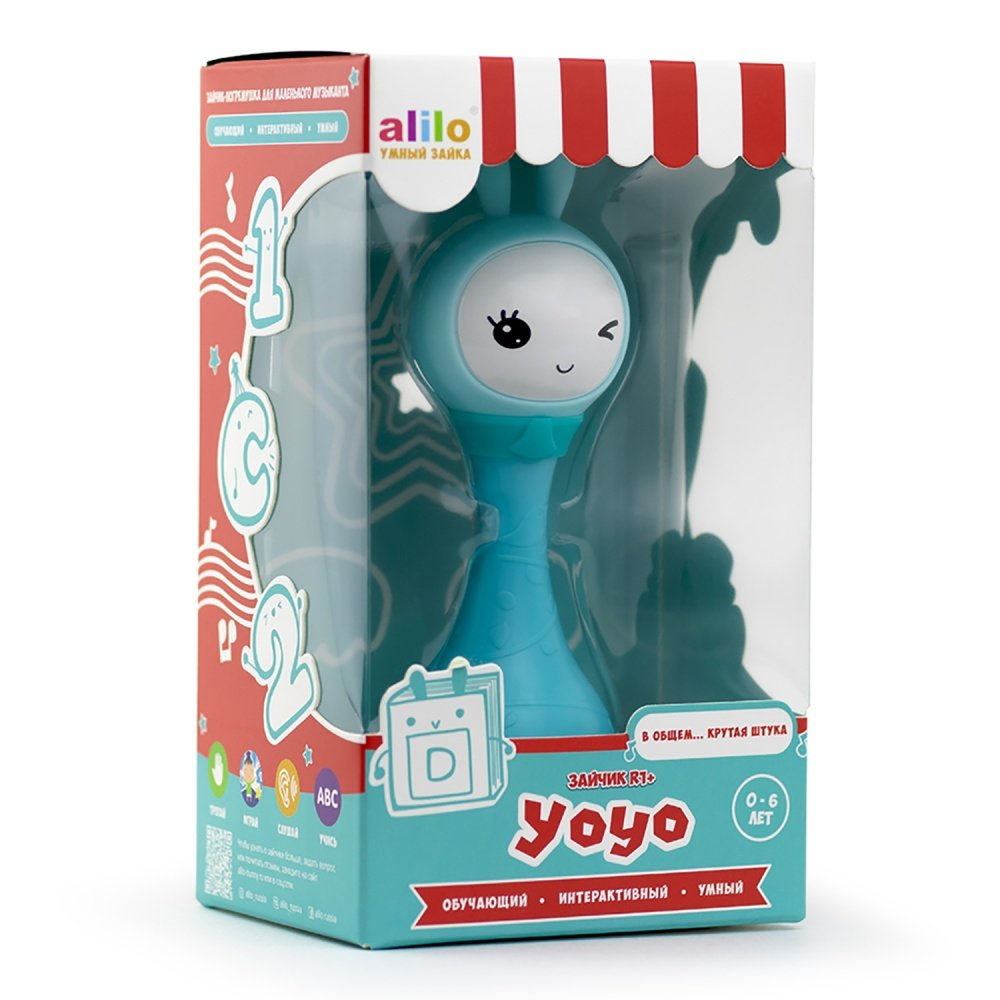 Alilo игрушка музыкальная интерактивная Умный зайка R1+ Yoyo синий