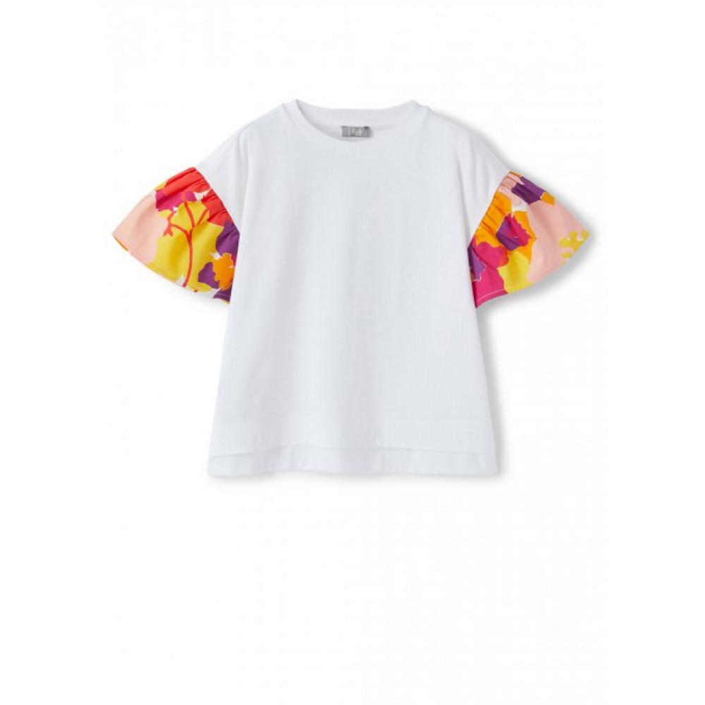 il GUFO Белая футболка с цветными рукавами