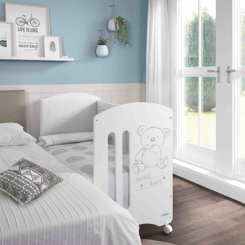 Кровать Micuna Sweet Bear (Микуна Свит Бир) 120*60 white с матрацем CH-620