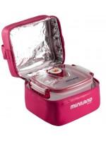 Термосумка Miniland (Минилэнд) PACK-2-GO HERMIFRESH с двумя вакуумными контейнерами, розовая 89139
