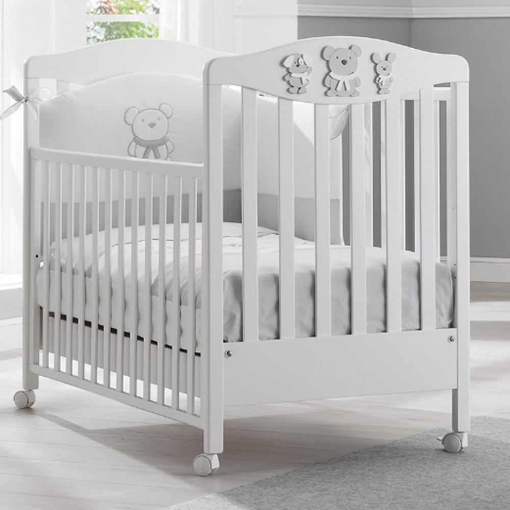 Кровать Erbesi (Эрбеси) Pongo 125*65 белый/серый