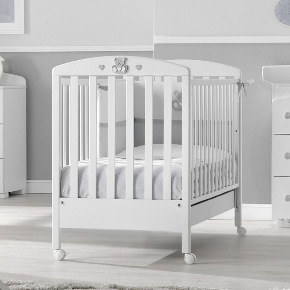 Кровать Erbesi Charly (Эрбеси Чарли) 125*65 белый/серый