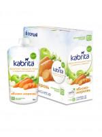 kabrita® Фруктовый смузи с козьими сливкамиKabrita® Банан с клубникой с яблочным пюре и козьими сливками