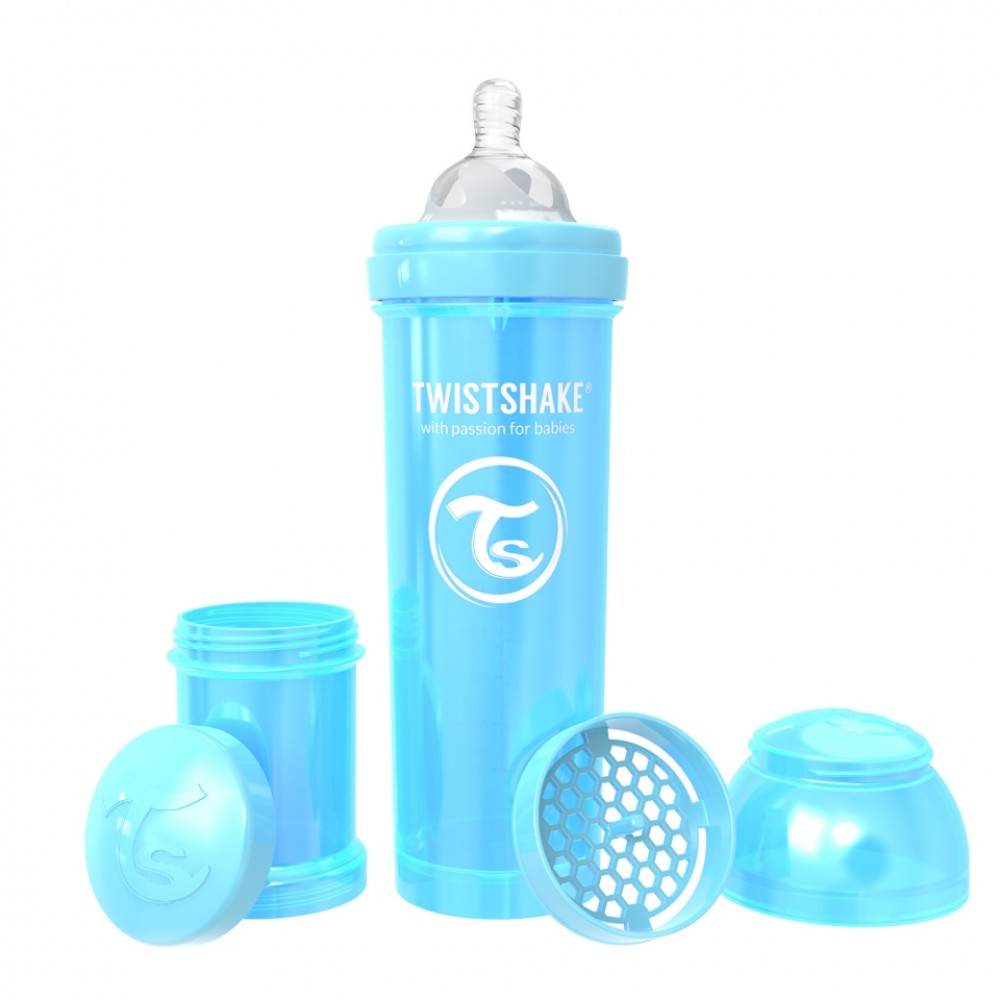 Антиколиковая бутылочка Twistshake Pearl 330 мл. жемчужный синий